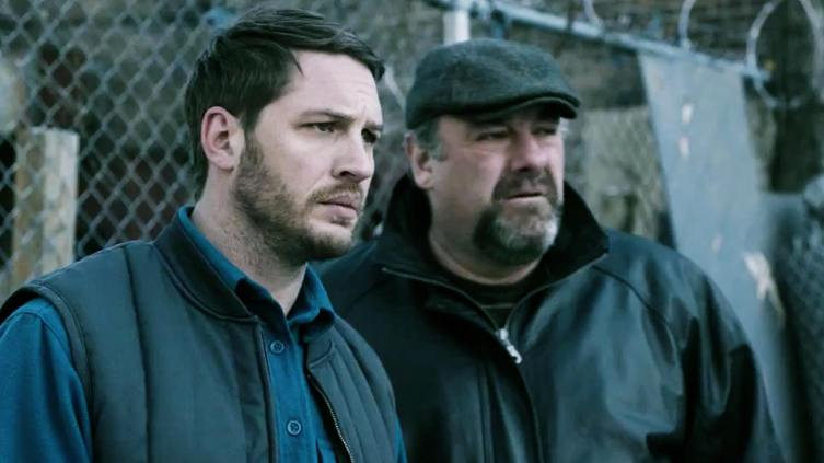 Tom Hardy and the late James Gandolfini in 'The Drop'