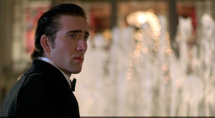 A young Nicolas Cage seemingly calm and collected for once