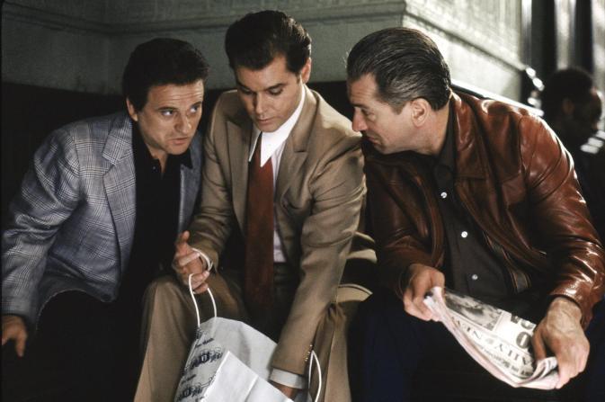 Pesci Liotta and De Niro in 'Goodfellas'