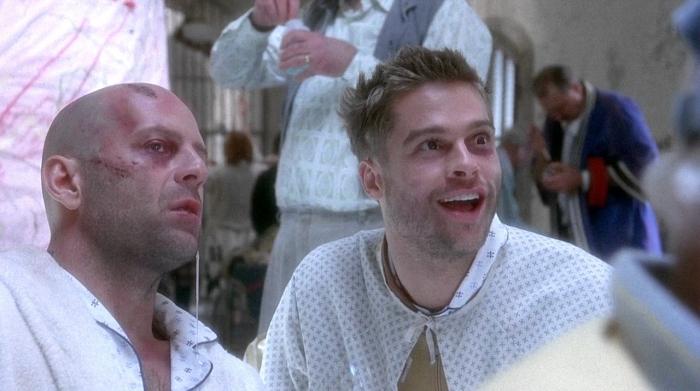 Brad Pitt and Bruce Willis in '12 Monkeys'